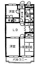 神奈川県横浜市戸塚区舞岡町の賃貸マンションの間取り
