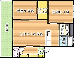 リバプール弐番館[1階]の間取り