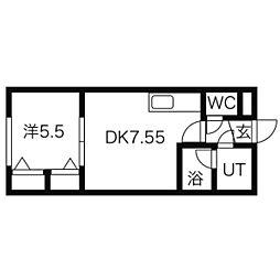 レジデンス高石[1階]の間取り