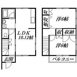 [テラスハウス] 静岡県浜松市南区中田島町 の賃貸【/】の間取り