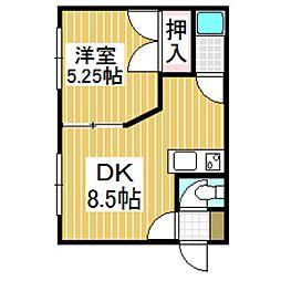 コミニティ美原[2階]の間取り