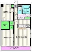 東京都町田市能ヶ谷6丁目の賃貸マンションの間取り