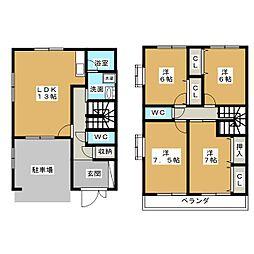 [テラスハウス] 愛知県名古屋市千種区上野2丁目 の賃貸【/】の間取り