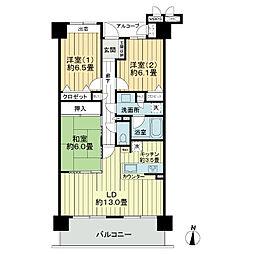 ライオンズマンション北四番丁[12階]の間取り