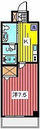 プリフェ−ムナミキ[4階]の間取り