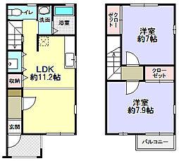 エクセレントYAMAMOTO[1階]の間取り