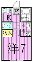 東京都足立区関原3の賃貸アパートの間取り
