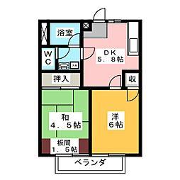マイ・シャトウ見川 B棟[1階]の間取り