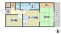 HIJIRIマンション[3-D号室]の間取り