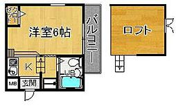 奈良県奈良市西紀寺町の賃貸アパートの間取り