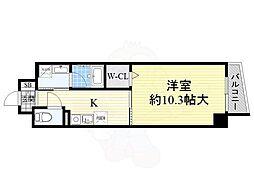 大阪モノレール彩都線 阪大病院前駅 徒歩5分の賃貸マンション 1階1Kの間取り