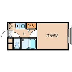奈良県奈良市二条大路南3丁目の賃貸アパートの間取り
