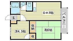 シャトー三木[103号室]の間取り