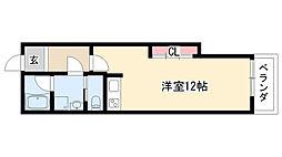 愛知県名古屋市天白区八幡山の賃貸マンションの間取り