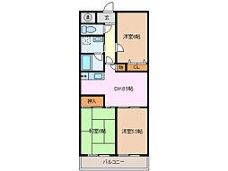 ジュネスYOU[2階]の間取り