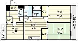 アヴィダシオン・DO・Y[4階]の間取り