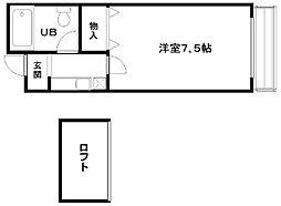 エスポワールI[203号室]の間取り