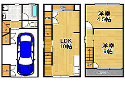 [一戸建] 大阪府大阪市大正区南恩加島1丁目 の賃貸【/】の間取り