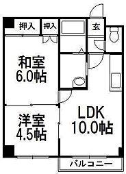 ソシアルコートK3・4[103号室]の間取り