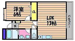 岡山県倉敷市青江の賃貸マンションの間取り