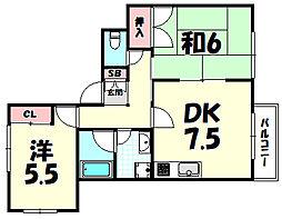スクエア六甲[2階]の間取り