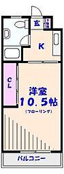 行徳マンション[1097号室]の間取り