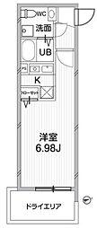 東京都新宿区矢来町の賃貸マンションの間取り