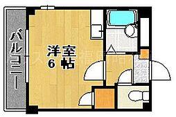 福岡県福岡市中央区地行1の賃貸マンションの間取り