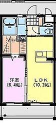 都城・上東マンション[4階]の間取り