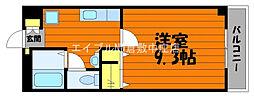 JR山陽本線 中庄駅 徒歩5分の賃貸マンション 4階1Kの間取り