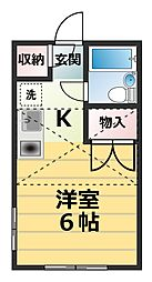 神奈川県厚木市三田南1丁目の賃貸アパートの間取り
