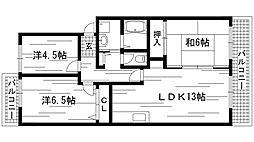 兵庫県神戸市西区玉津町新方東方の賃貸マンションの間取り
