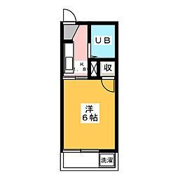 メゾンワタナベ[1階]の間取り