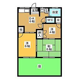 エステート302[1階]の間取り