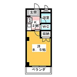 コーポノリクラB棟[1階]の間取り