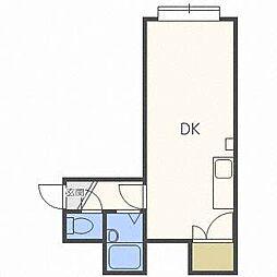 フロンティアK2[3階]の間取り