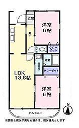 ハートヒルズ2番館[3階]の間取り