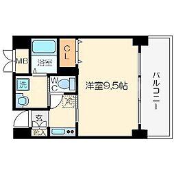 ウィスタリア京橋[3階]の間取り