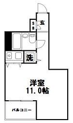 朝日プラザ新神戸[403号室]の間取り