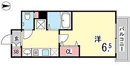 ファビュロウスサンコー[10階]の間取り