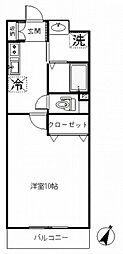 アビタシオン・シャーム[108号室号室]の間取り