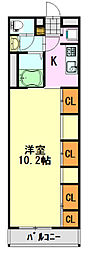 千葉県千葉市中央区蘇我1丁目の賃貸マンションの間取り