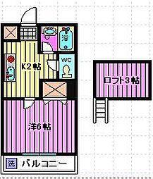 清水ハイツ(小谷場)[1階]の間取り
