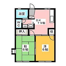 ラプラスヤマトA[1階]の間取り