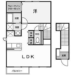 アネーロ・ヒル2[2階]の間取り