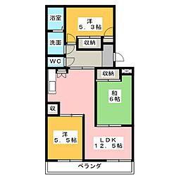 メゾンファミーユ[4階]の間取り