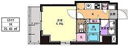 JR京浜東北・根岸線 川崎駅 徒歩11分の賃貸マンション 2階1Kの間取り
