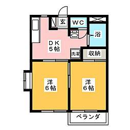 エステートピアANNEXI[2階]の間取り