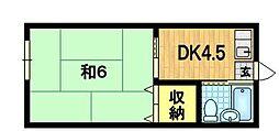 ハタハウス[2階]の間取り