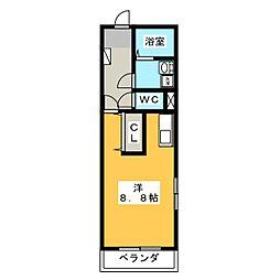 レフィナード[3階]の間取り